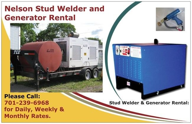 Stud Welder for Rent- Give us a call 701.239.6968